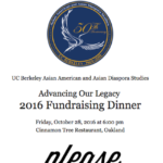 Save the Date: 2016 Fundraising Dinner on October 28th!